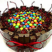 Cakes and Cookies: Choc Cake with M&M
